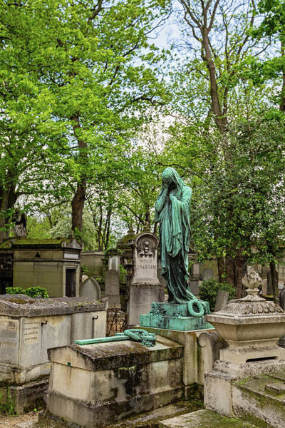 Wall Art - Photograph - Pere Lachaise Cemetery I - Paris France by Melanie Alexandra Price