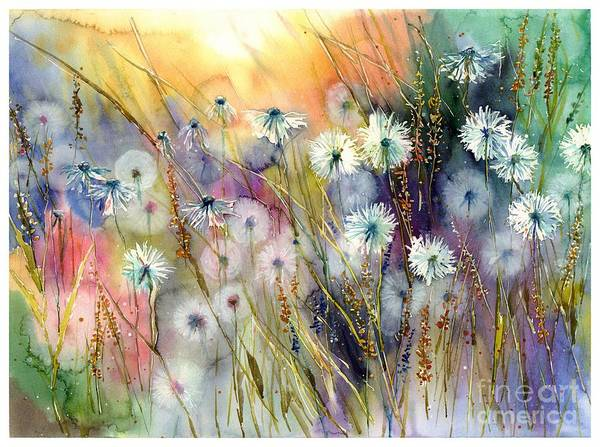 Field Of Flowers Wall Art - Painting - Perfect Summer by Suzann's Art