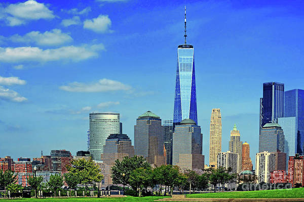 Wall Art - Photograph - Perfect Together - N.j And One World Trade  by Regina Geoghan