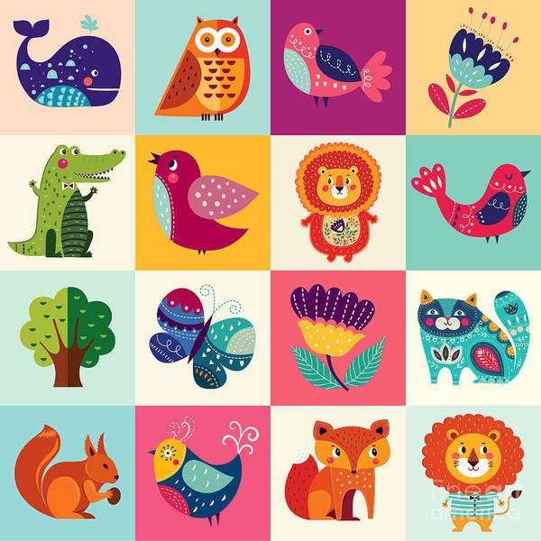Wall Art - Digital Art - Perfect Vector Set Of Illustration In by Molesko Studio