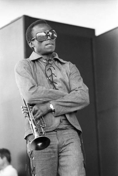 Davis Photograph - Performing At Newport Jazz Festival by Tom Copi