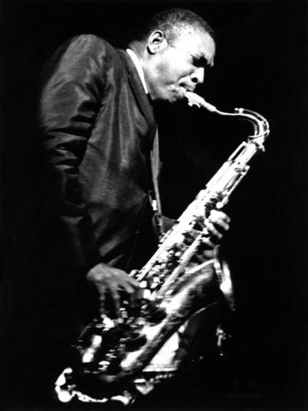 John Coltrane Wall Art - Photograph - Performing In New York by Herb Snitzer