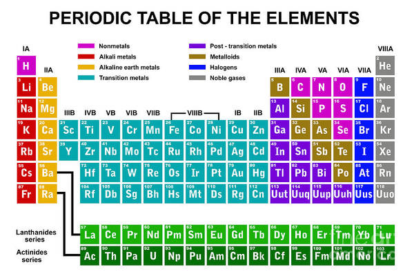 Wall Art - Digital Art - Periodic Table Of The Elements by Dece
