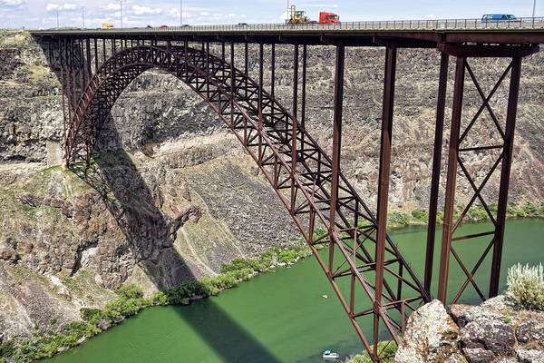 Photograph - Perrine Bridge, Twin Falls, Idaho by Tatiana Travelways