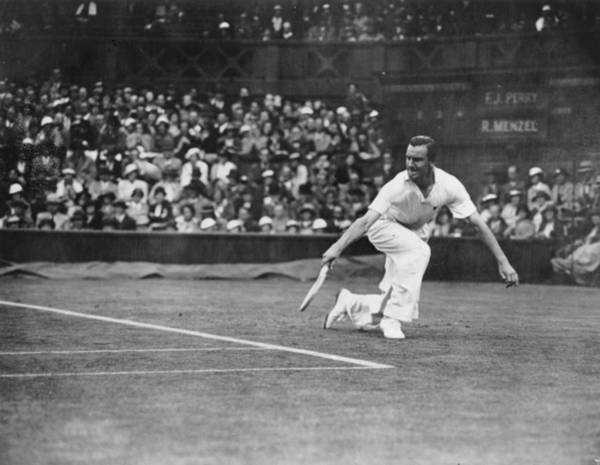 Tennis Photograph - Perry Action by Central Press