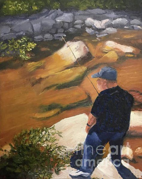 Painting - Perry Fishing by Linda Anderson