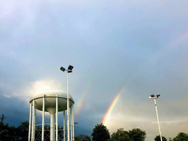 Photograph - Perry Hall Double Rainbow by Chris Montcalmo