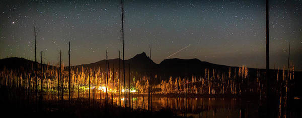 Photograph - Perseid At Round Lake by Cat Connor