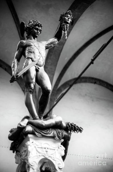 Photograph - Perseus At The Loggia Dei Lanzi In Florence by John Rizzuto