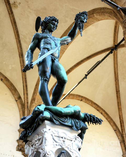 Photograph - Perseus With The Head Of Medusa In Florence by John Rizzuto