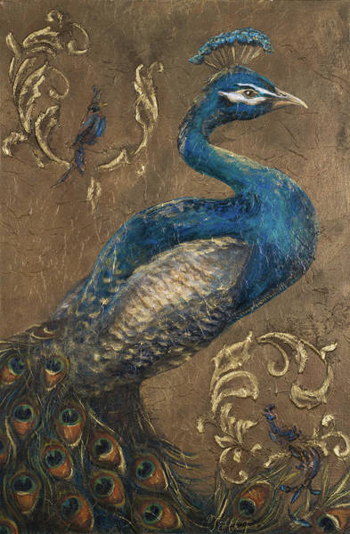 Wall Art - Painting - Pershing Peacock I by Tiffany Hakimipour