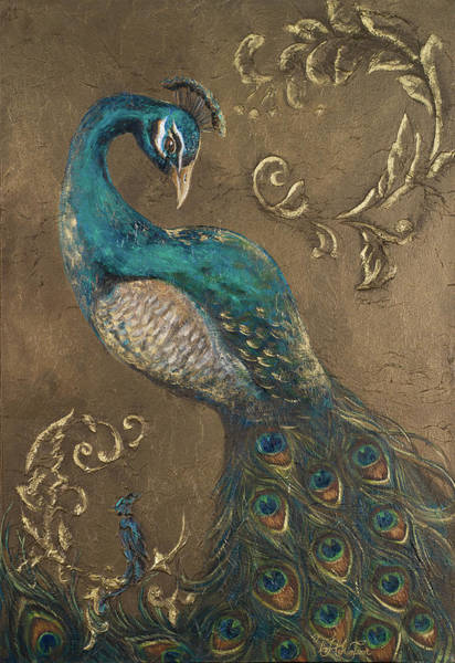 Wall Art - Painting - Pershing Peacock II by Tiffany Hakimipour