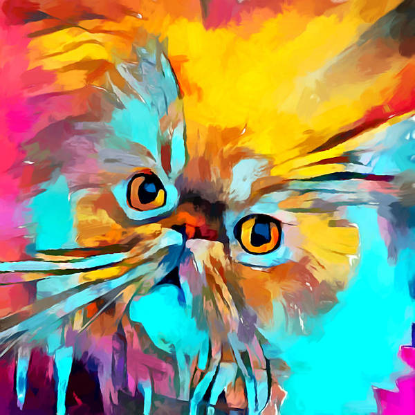 Wall Art - Painting - Persian Cat by Chris Butler