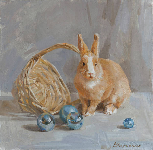 Wall Art - Painting - Persik And Christmas Balls by Victoria Kharchenko