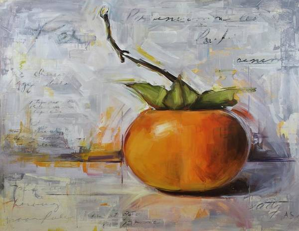 Persimmon Painting - Persimmon by Annie Salness