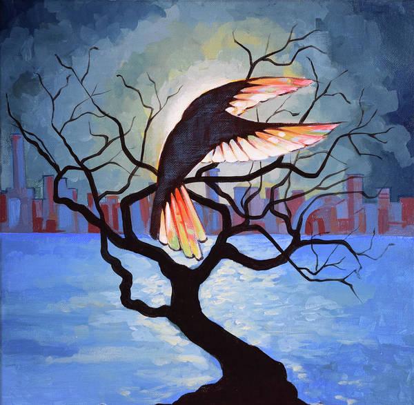 Wall Art - Painting - Persistence Of Light - Remember Phoenix 3 by Lembrau Iulian