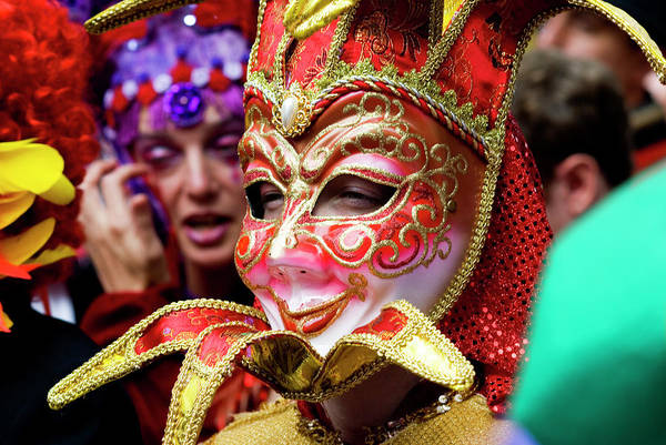 Louisiana Photograph - Person In Venetian Mask, New Orleans by Ray Laskowitz