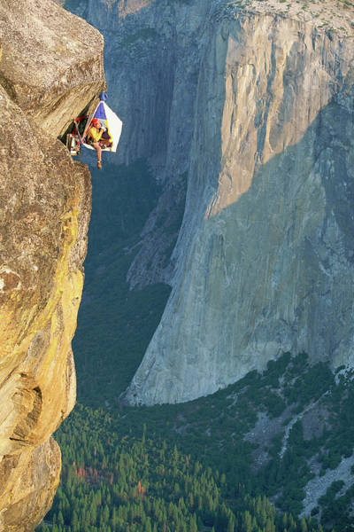 Hanging Rock Photograph - Person Resting In Bivouac , El Capitan by Greg Epperson