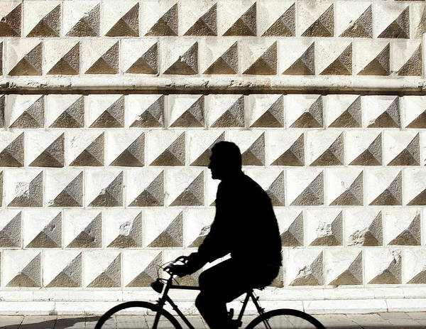 Real People Photograph - Person Riding Bicycle by Massimo Merlini