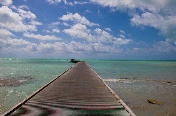 Us West Coast Photograph - Perspective Shot Of Causeway, Key West by Pete Foley