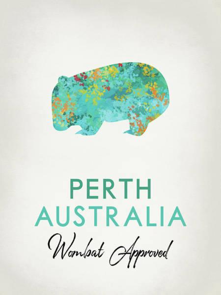 Wall Art - Digital Art - Perth Australia Wombat by Flo Karp