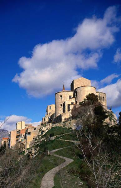 Sicily Photograph - Pertralia Soprano Hilltop Town In by Wayne Walton