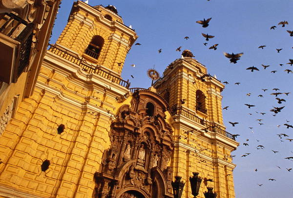 Lima Photograph - Peru,lima,iglesia De San Francisco With by Paul Grebliunas