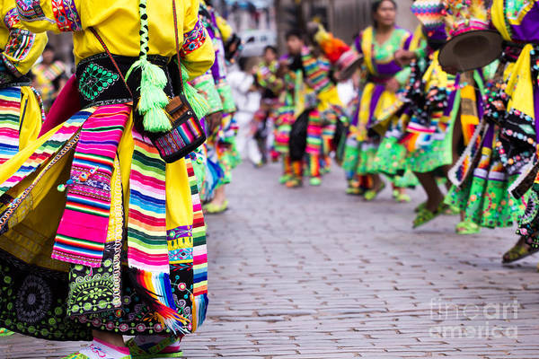 Wall Art - Photograph - Peruvian Dancers At The Parade In Cusco by Curioso