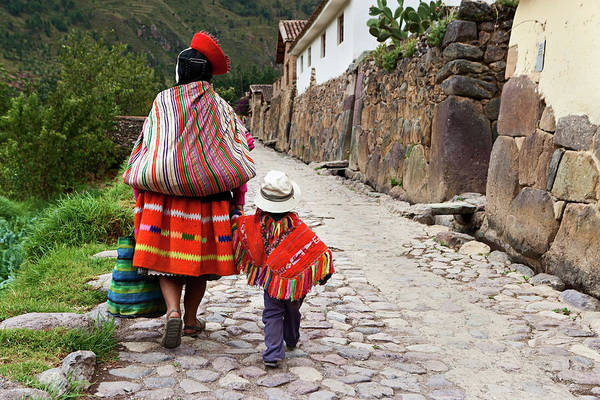 Aymara Wall Art - Photograph - Peruvian Woman With Her Baby, The by Hadynyah