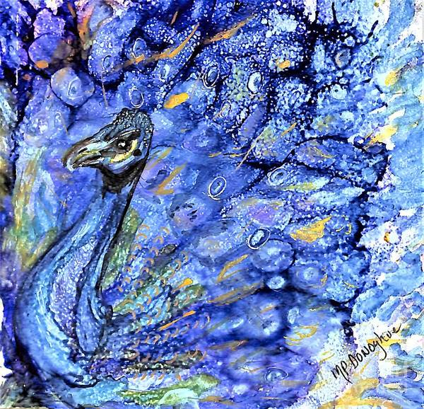 Wall Art - Painting - Pesky Peacock  by Patty Donoghue