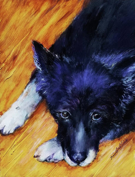 Wall Art - Painting - Pet Portrait Border Collie by Kim Guthrie