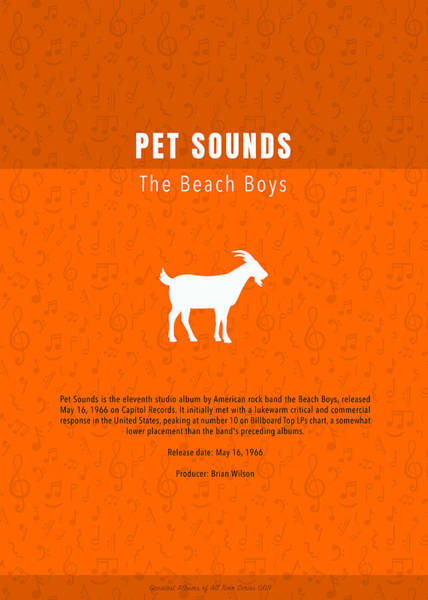 Wall Art - Mixed Media - Pet Sounds The Beach Boys Greatest Albums Of All Time Minimalist Series by Design Turnpike