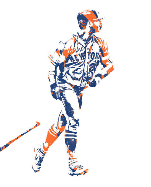 Wall Art - Mixed Media - Pete Alonso New York Mets Pixel Art 2 by Joe Hamilton