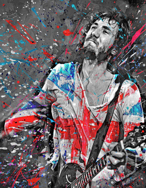 Wall Art - Mixed Media - Pete Townsend by Mal Bray