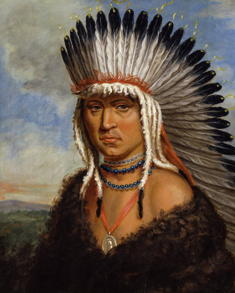 Wall Art - Painting - Petelesharro, Generous Chief, 1822 by Charles Bird King