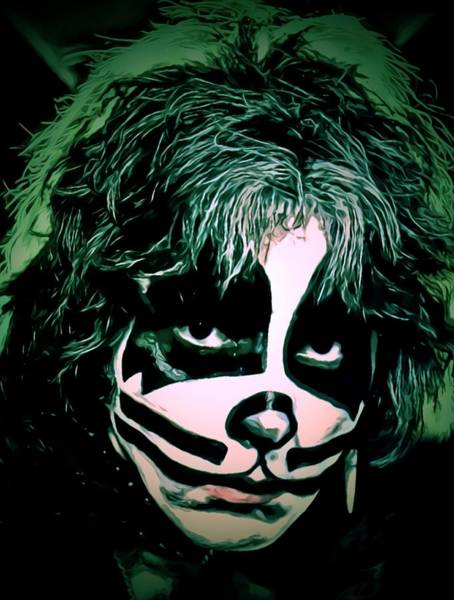 Digital Art - Peter Criss by Fred Larucci