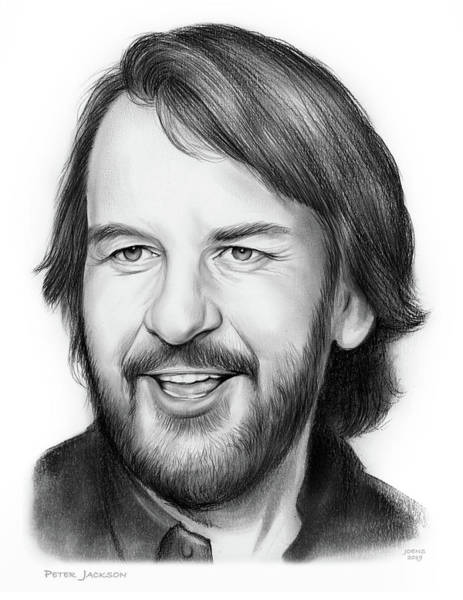 Pencil Drawing - Peter Jackson by Greg Joens