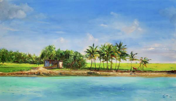 Saint Lucia Painting - Petit Anse Nwe by Jonathan Guy-Gladding JAG