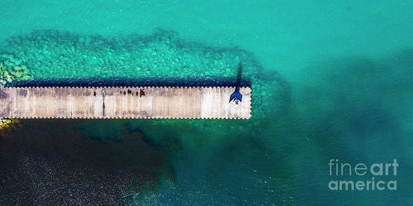 Charlevoix Photograph - Petoskey Breakwall Aerial by Twenty Two North Photography