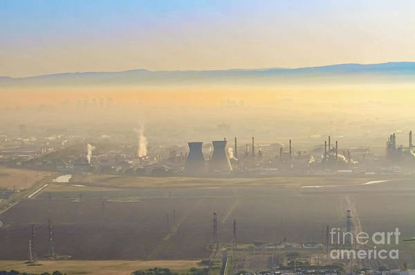Wall Art - Photograph - Petrochemical Plant In Smog K1 by Shay Levy