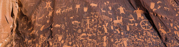 Wall Art - Photograph - Petroglyphs At Newspaper Rock State by Panoramic Images