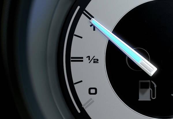 Dashboard Digital Art - Petrol Gage Full by Allan Swart
