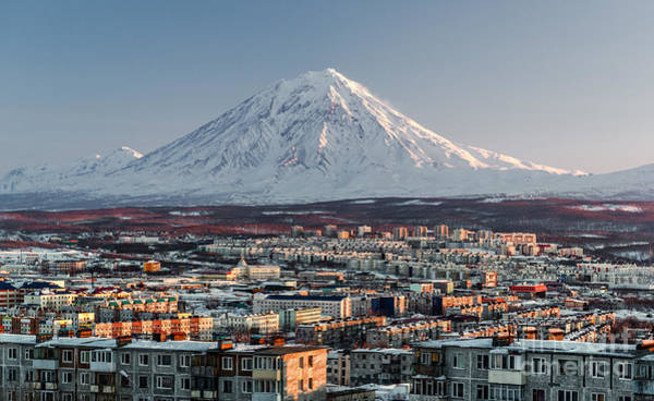 Wall Art - Photograph - Petropavlovsk-kamchatsky Cityscape And by Alex Tihonovs