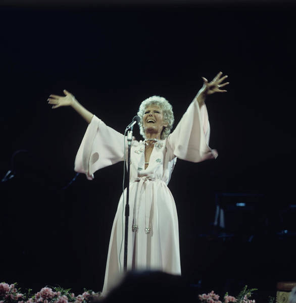 1974 Photograph - Petula Clark Performs On Stage by Tony Russell