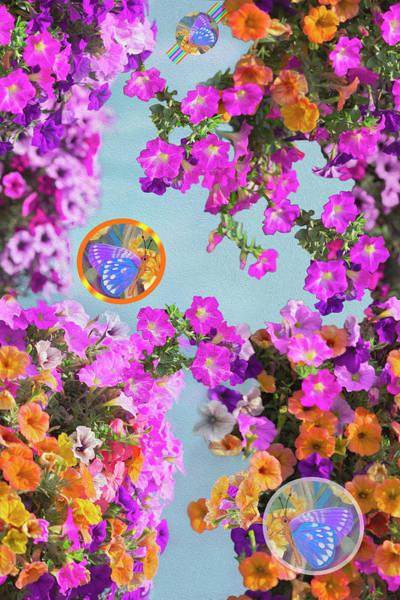 Wall Art - Mixed Media - Petunia Paradise For Butterflies by Nancy Lee Moran