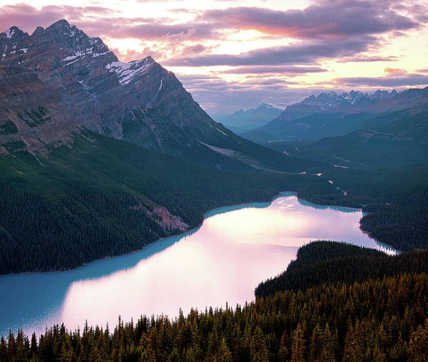 Peyto Lake Wall Art - Photograph - Peyto Lake Dusk by Paul Bruins Photography