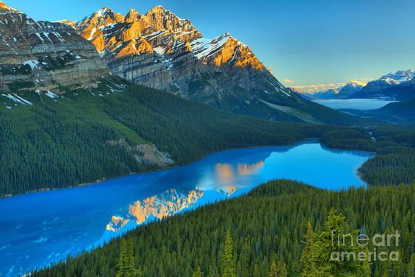 Photograph - Peyto Lake Sunrise Reflections by Adam Jewell