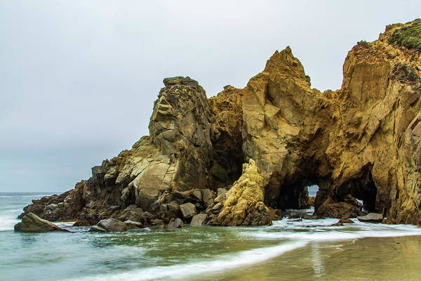 Photograph - Pfeiffer Beach Rock Formation by Stefan Mazzola