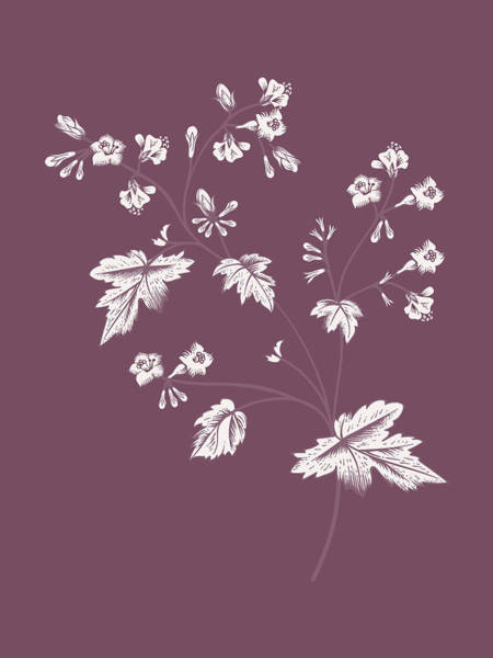 Bouquet Mixed Media - Phacelia Purple Flower by Naxart Studio