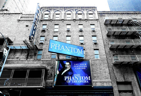 Photograph - Phantom Of The Opera In Blue by Trina Ansel